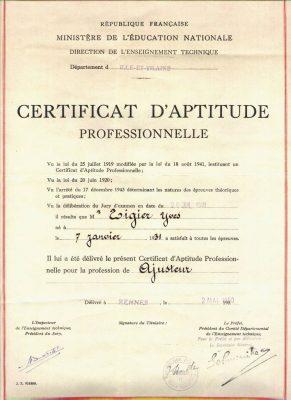 Chứng chỉ năng lực chuyên môn (CAP) tại Pháp