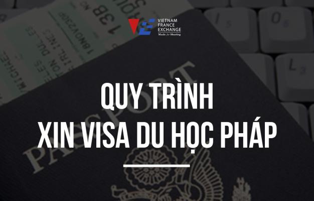 quy trình xin visa du học pháp